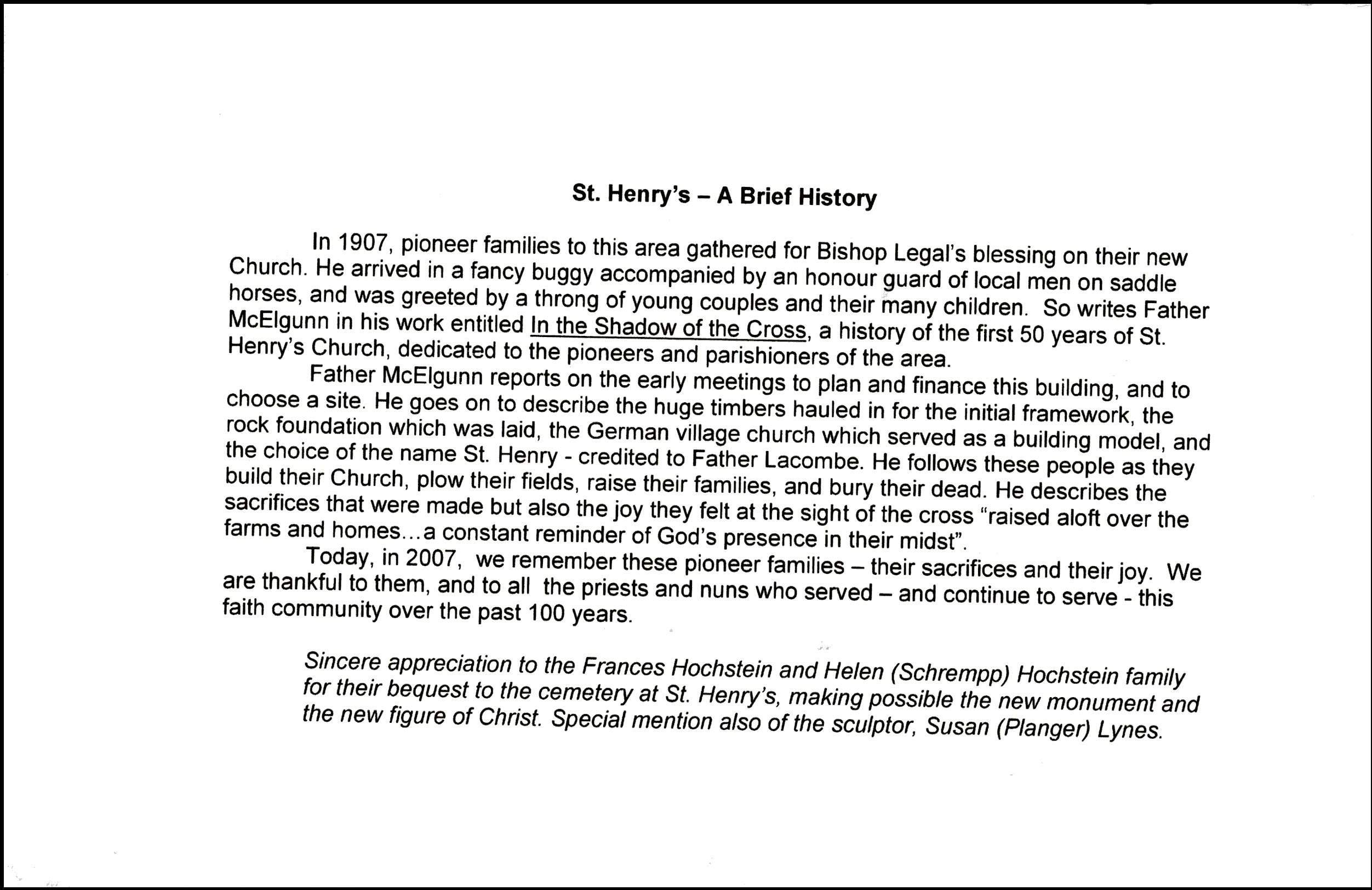2007 Celebration of Thanksgiving | St Henrys